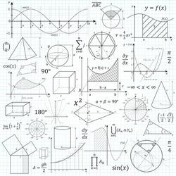 Mathematical vector formulary. For school, university and training. Basic Formulas. Symbols, Cheat Slip, Math.