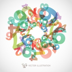 Mathematics background with numbers. Abstract math symbols.