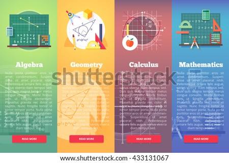 mathematics banners flat