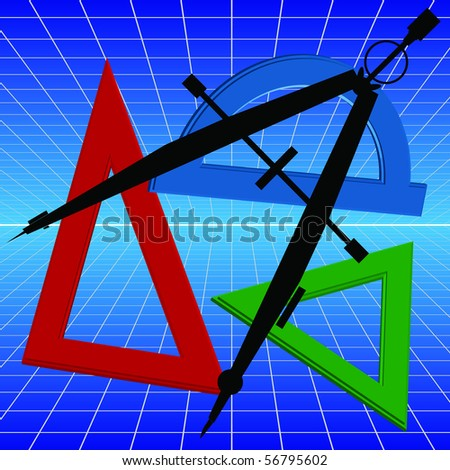 mathematics, geometry - stock vector