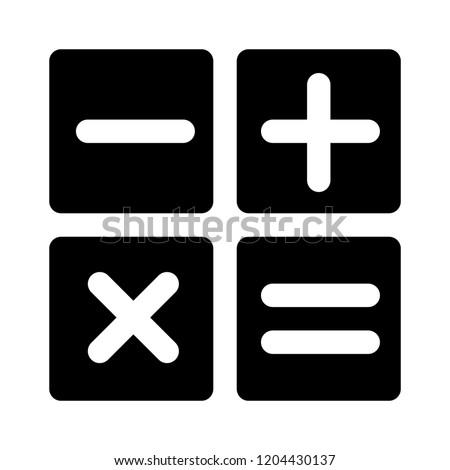 mathematics icon. Simple illustration of calculator vector icon for web - education math icon