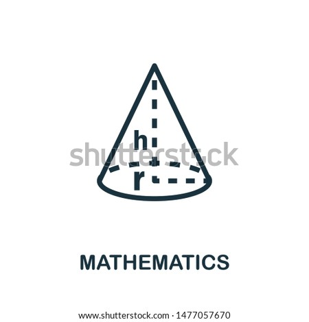 Mathematics icon vector illustration. Creative sign from education icons collection. Filled flat Mathematics icon for computer and mobile. Symbol, logo vector graphics.