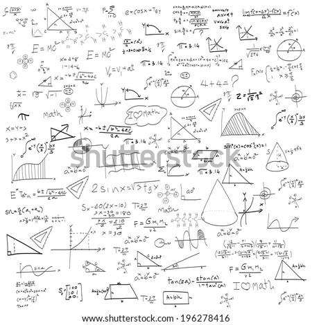 maths seamless pattern and