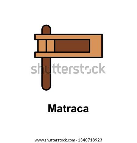 Matraca icon. Element of Cinco de Mayo color icon. Premium quality graphic design icon. Signs and symbols collection icon for websites, web design, mobile app Stock fotó ©