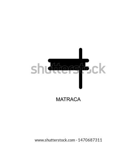 matraca icon vector black design Stock fotó ©