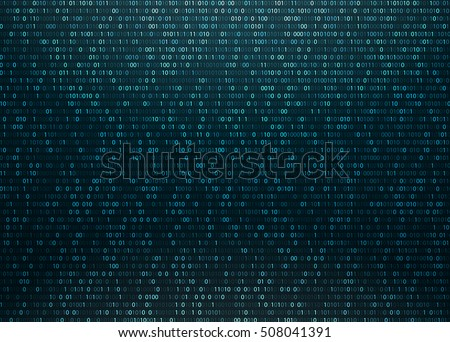 matrix background with blue