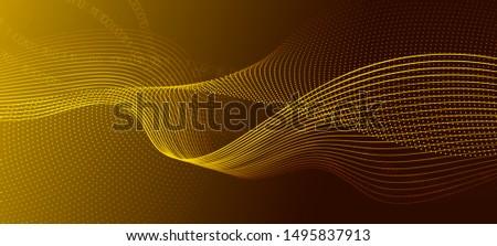 Matrix Big Data. Gold Science Wallpaper. Light Glow Technology Poster. Digital Binary Code. Matrix Data Stream. Science Visualization. Technology Concept. Abstract Binary Flow. Matrix Background.
