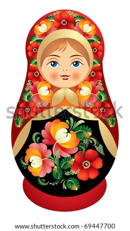 matryoshka doll dressed in a