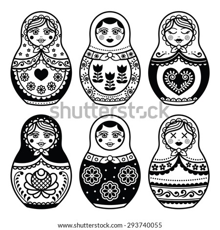 matryoshka  russian doll icons