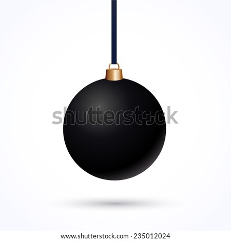 matte black christmas ball on a
