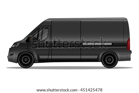 matte black van with black