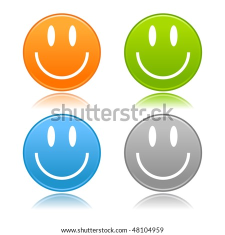 facebook smileys faces. colored smiley faces with