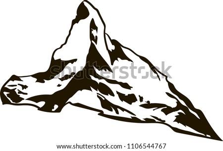 matterhorn mountain black and