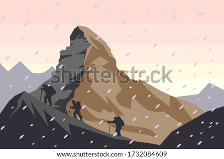 matterhorn vector illustration