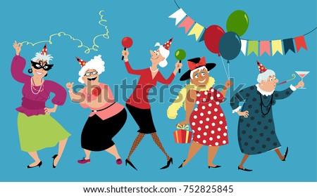mature ladies celebrate