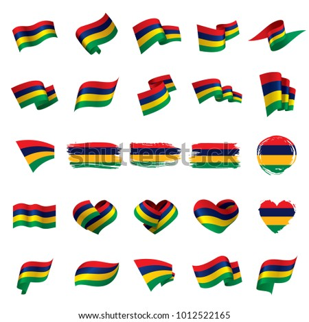 Mauritius flag, vector illustration