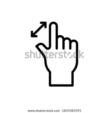Maximize, Fullscreen, Zoom, Gesture Icon Logo Illustration Vector Isolated. Hand Sign and Gesture Icon-Set. Suitable for Web Design, Logo, App, and UI. Editable Stroke and Pixel Perfect. EPS 10. Photo stock ©
