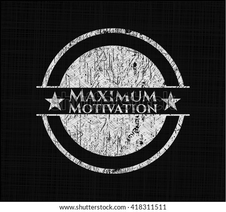 maximum motivation chalk emblem