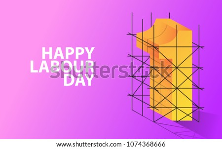 May day, Happy Labour day background design EPS10