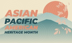 May is Asian Pacific American Heritage Month (APAHM), celebrating the achievements and contributions of Asian Americans and Pacific Islanders in the United States. Poster, banner concept. EPS 10.