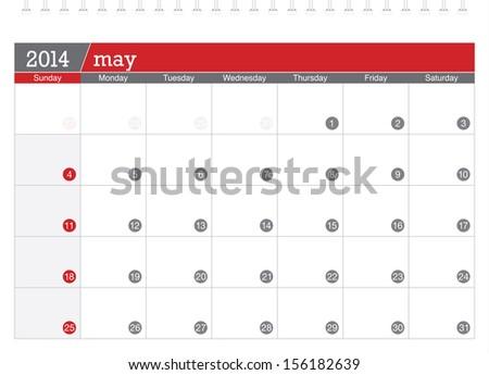 may 2014 planning calendar