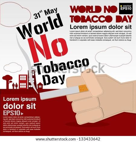 May 31st World no tobacco day illustration vector.EPS10