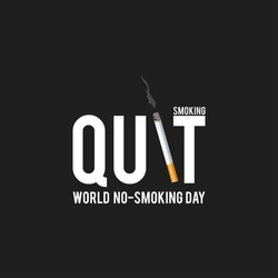 May 31st World No Tobacco Day. No Smoking Day Awareness. Poison of cigarette. Vector. Illustration. Quit Smoking.