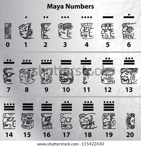Maya numbers - stock vector