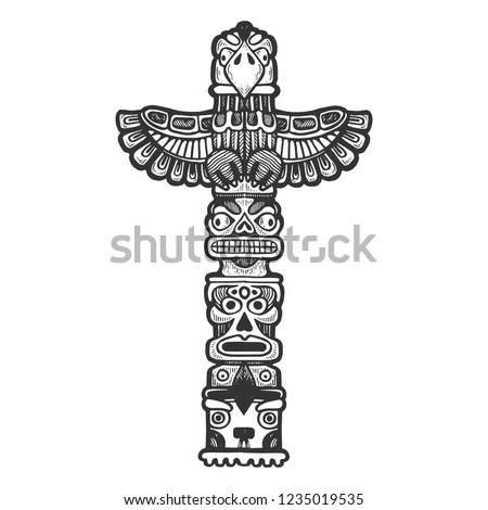 maya totem religious symbol of