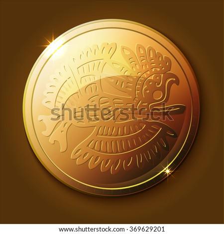 mayan bird coins