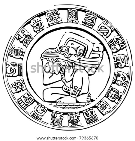 Mayan Calendar Symbols Vector