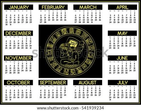 Mayan Calendar Vector Download Free Vector Art Stock Graphics
