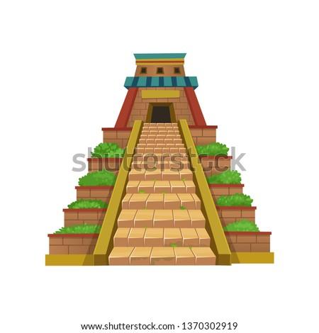 Mayan Pyramid. Vector illustration for games.