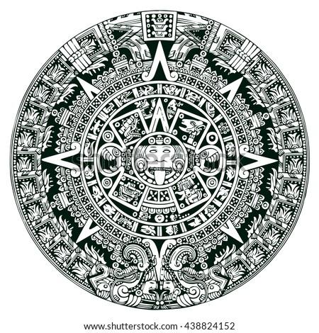 Royalty Free Mayan Symbols Calendar 438824143 Stock Photo Avopix
