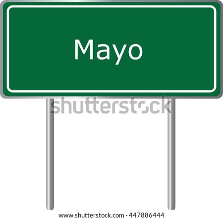 mayo   florida  road sign green