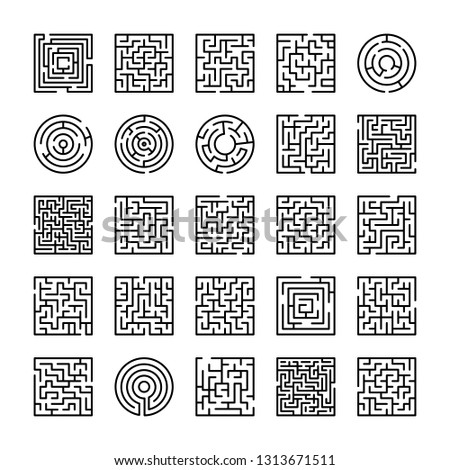 Maze And Labyrinth Icons