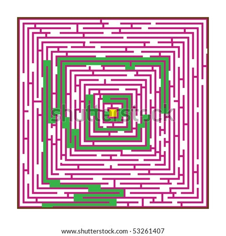 Maze, concept of searching the decision
