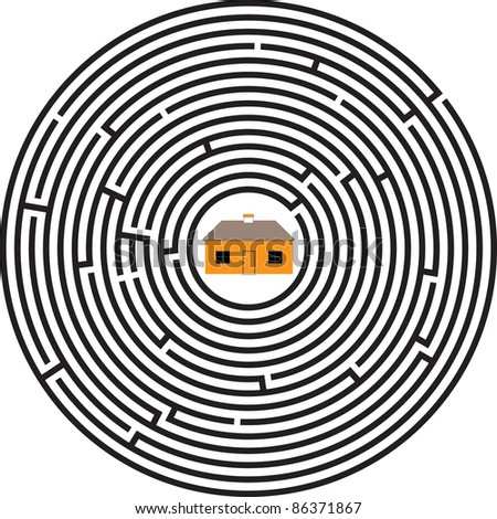 maze ellipse house
