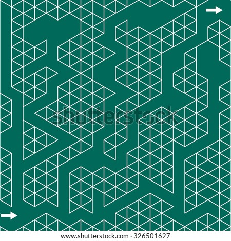 Maze for children. Vector illustration.