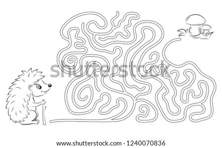 maze game  coloring page for