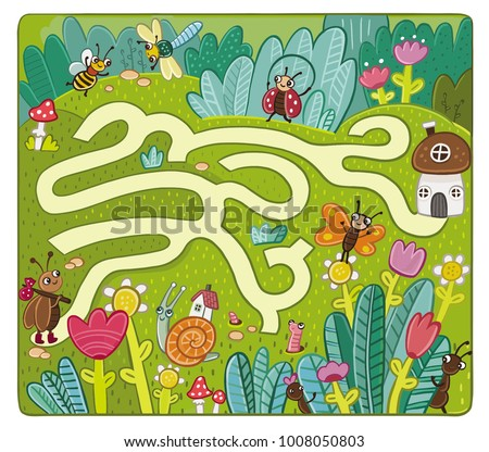 maze game for kids  insect world