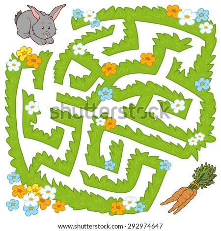 maze game  help bunny get to