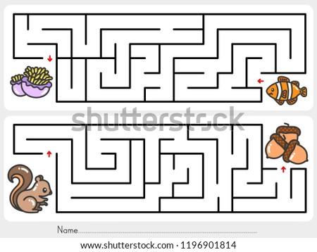 maze game  help clownfish find