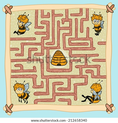 maze game  help one of the bees