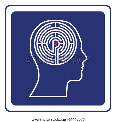 Maze head sign vector
