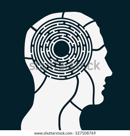 maze of human mind brain game
