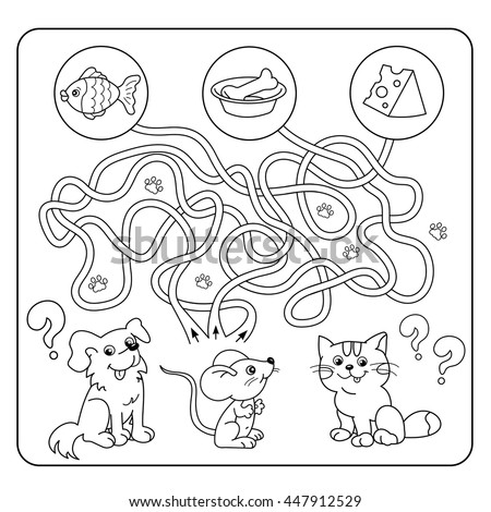 maze or labyrinth game for