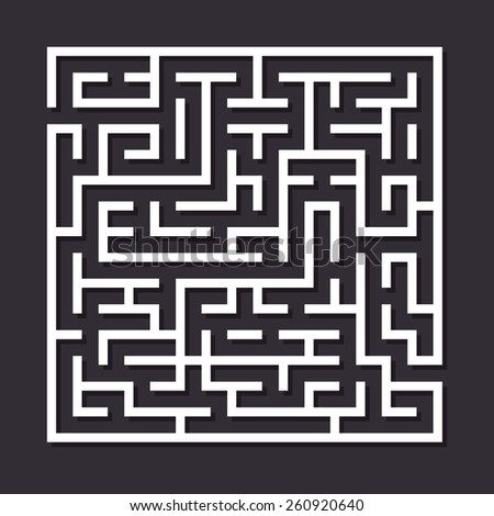 maze paper labyrinth vector