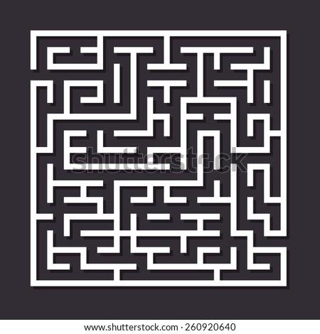 maze paper labyrinth vector