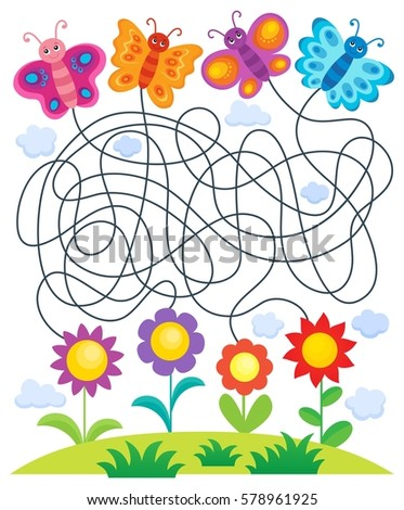 maze 24 with butterflies and